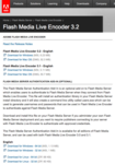 Flash Media Live Encoder #03